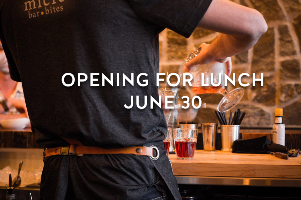 MICRO OPENING FOR LUNCH JUNE 20